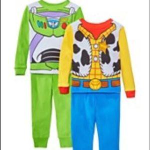 AME character kids 4 pc pajama set toy story